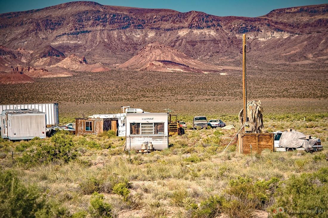 Abandoned trailer places somewhere on Highway 95