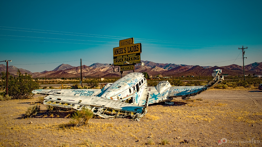 Airplane wreck at Frans Start Ranch in Nevada