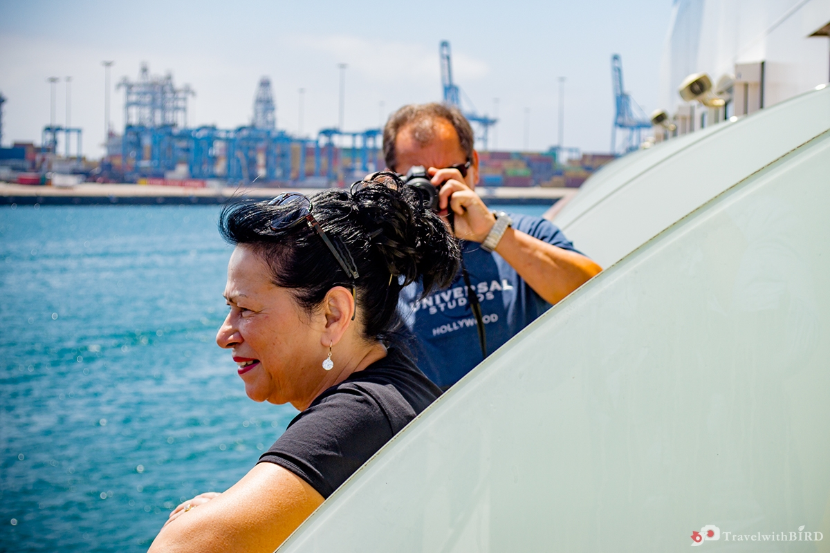 Picture time on deck of AIDAcara fpr our Canary Islands Blog