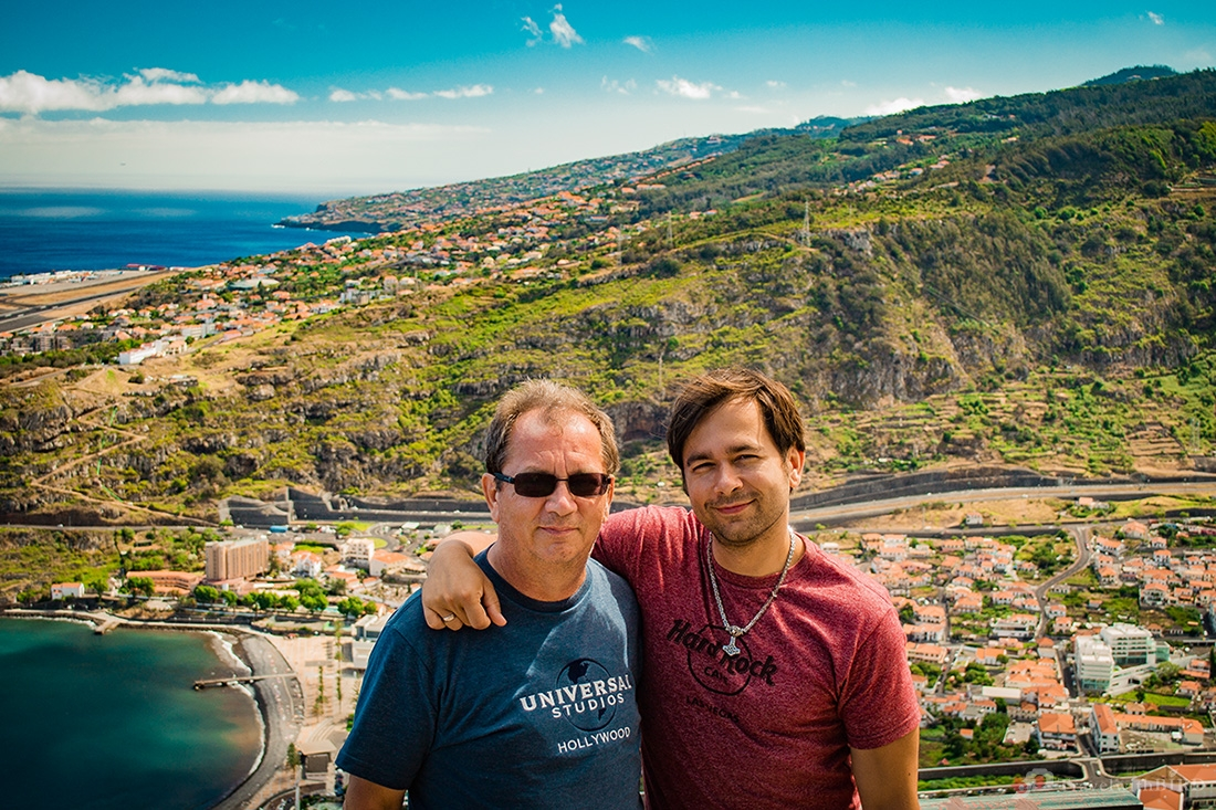 Dad and me on Madeira