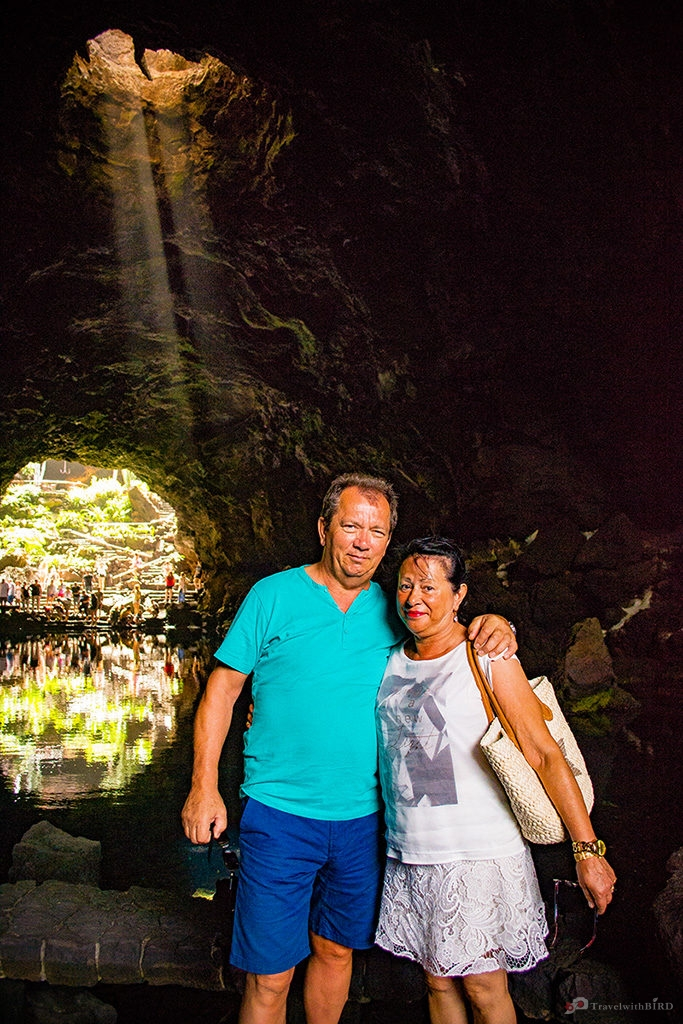 My parents in the cave of Jameo del agua