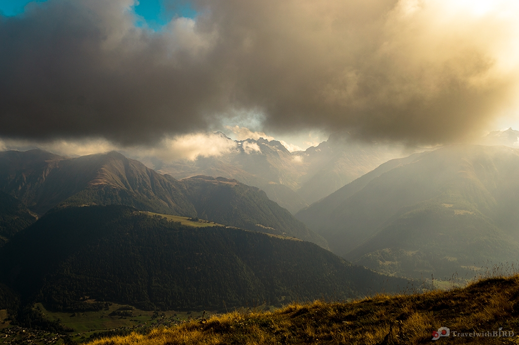 Clouds over Fiescheralp