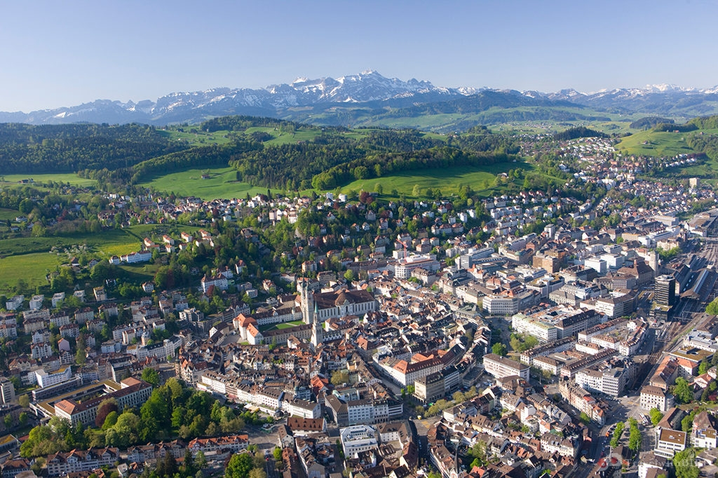 View from above over St. Gallen - © St.Gallen-Bodensee.ch