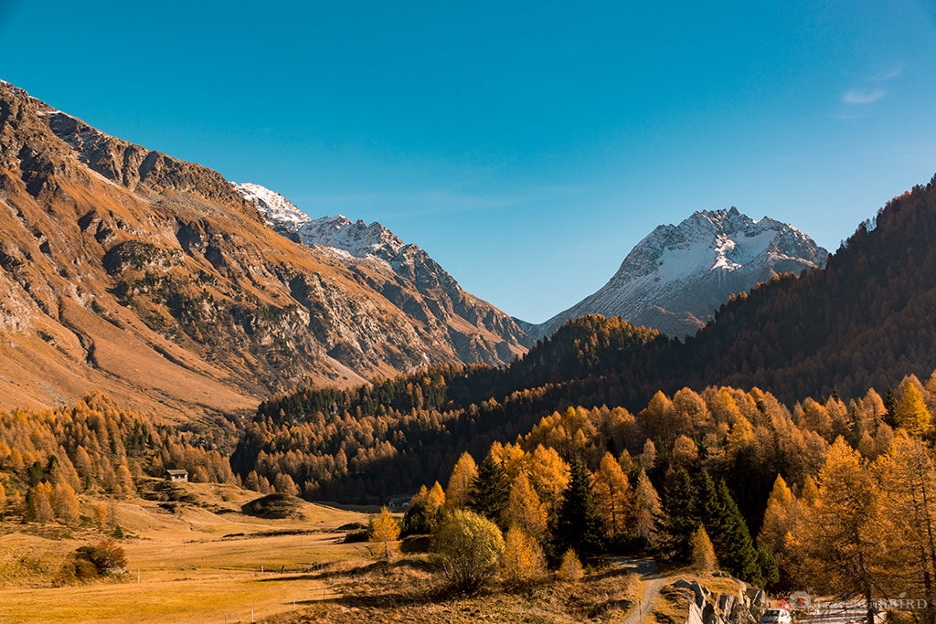 Mountains of Alps in Autumn