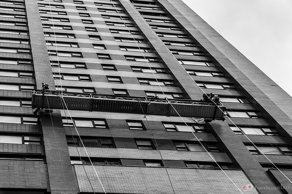 Cleaning windows in NYC