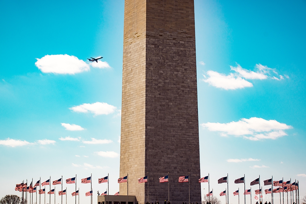 Close up of the Washington Monument