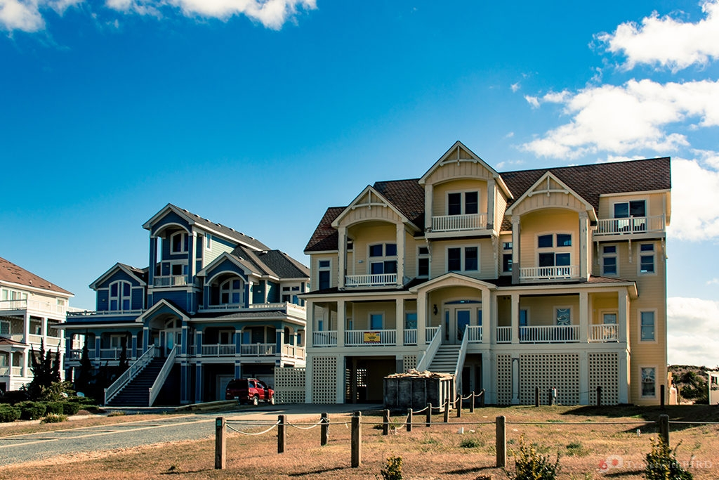 Beautiful houses of Outer Banks