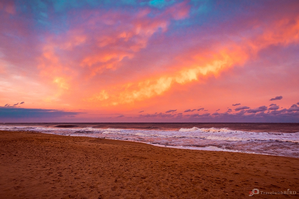 Breathtaking sunset in Hatteras