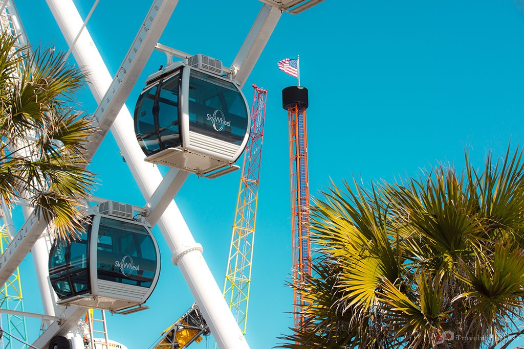 Close up of the Giant Wheel of Myrtle Beach