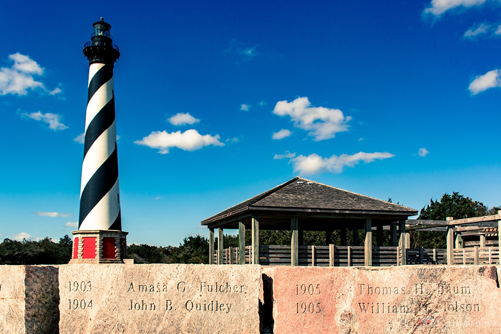 Lighthouse and memorial stones