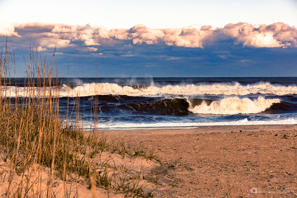 The wild sea at the Outer Banks