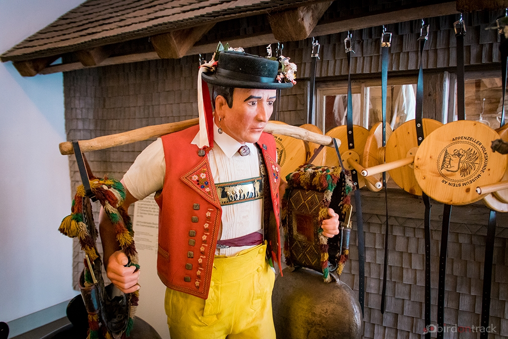Appenzell man carrying the cowbells