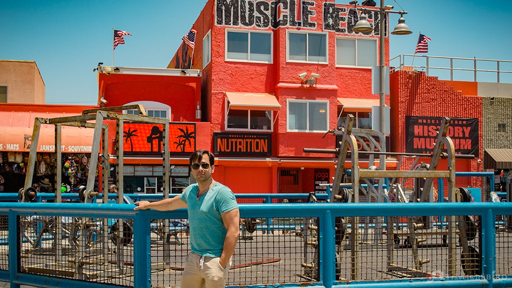 At the Muscle Beach