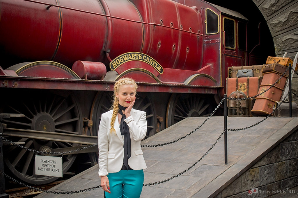 Birdie and the Hogwarts Express in Universal Studios