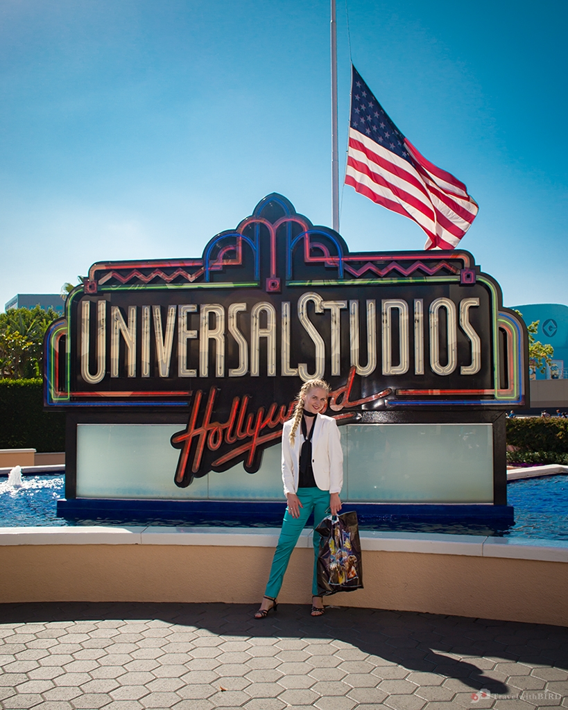 At the entrance of the Universal Studios