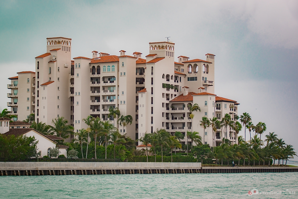Buildings on Fisher Island Miami