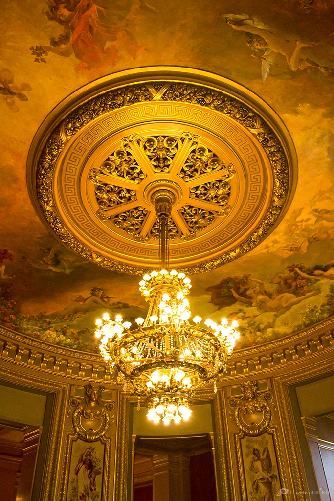 Paris opera garnier bird on track chandelier in opera garnier aloadofball Images