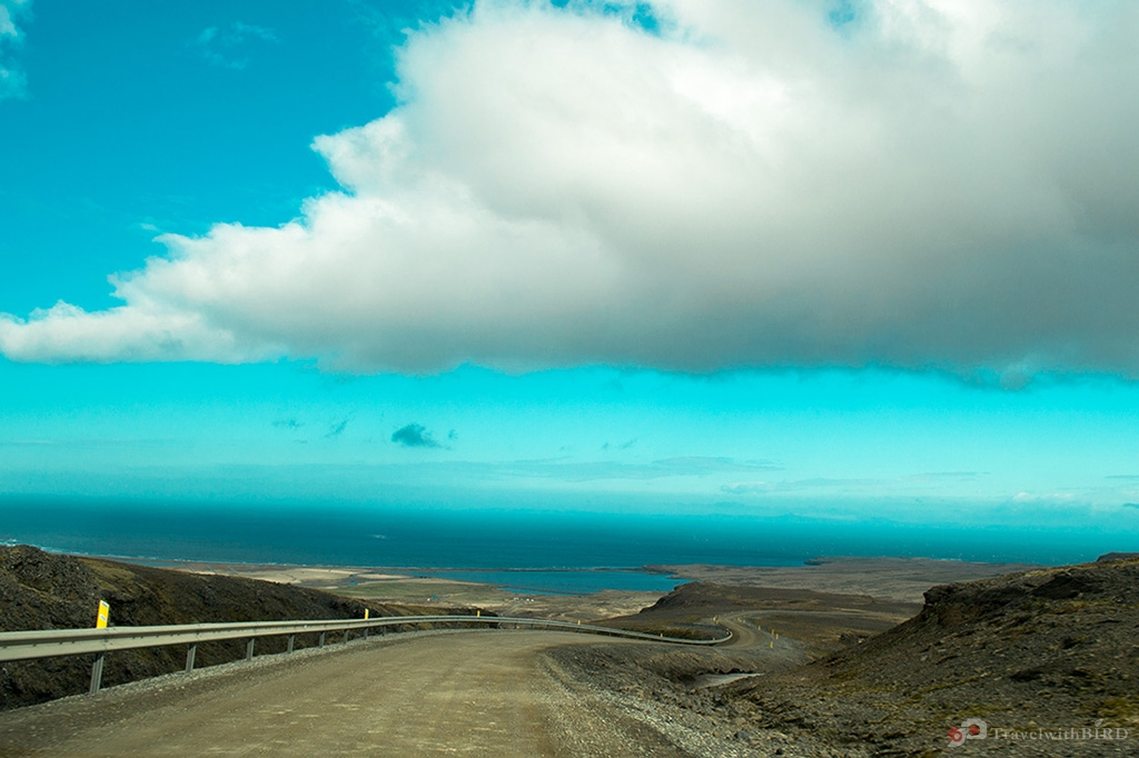 Clear sky and some clouds over Iceland