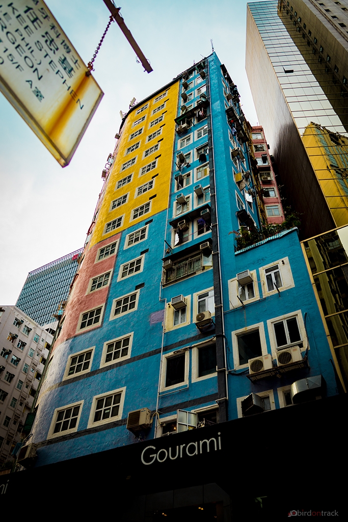 Colorful houses in Wanchai district