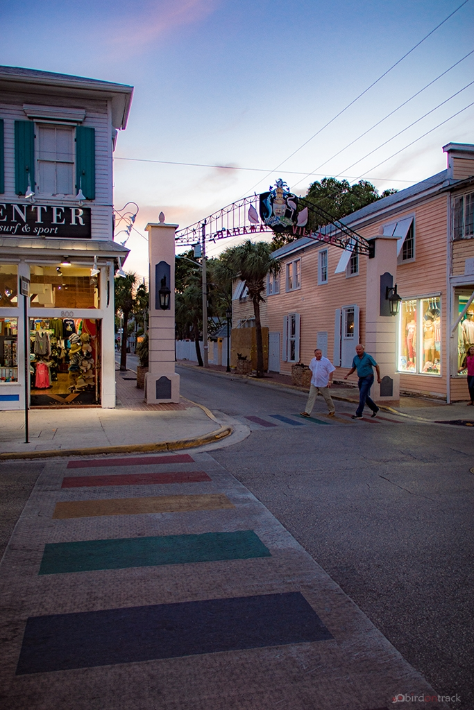 Colorful pedestrian area in Key West