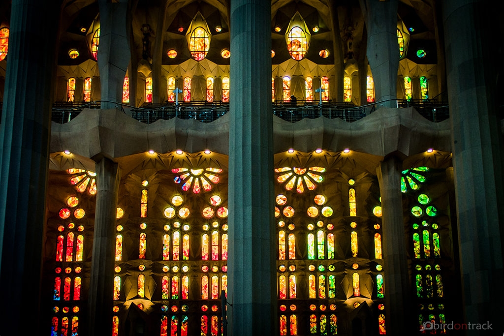 Colorful windows in the Sagrada Familia