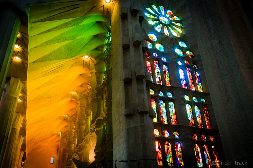 Colors everywhere in the Sagrada Familia
