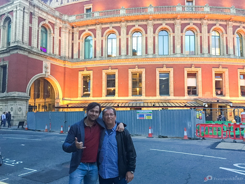 Dad and me in front of the legendary Royal Albert Hall