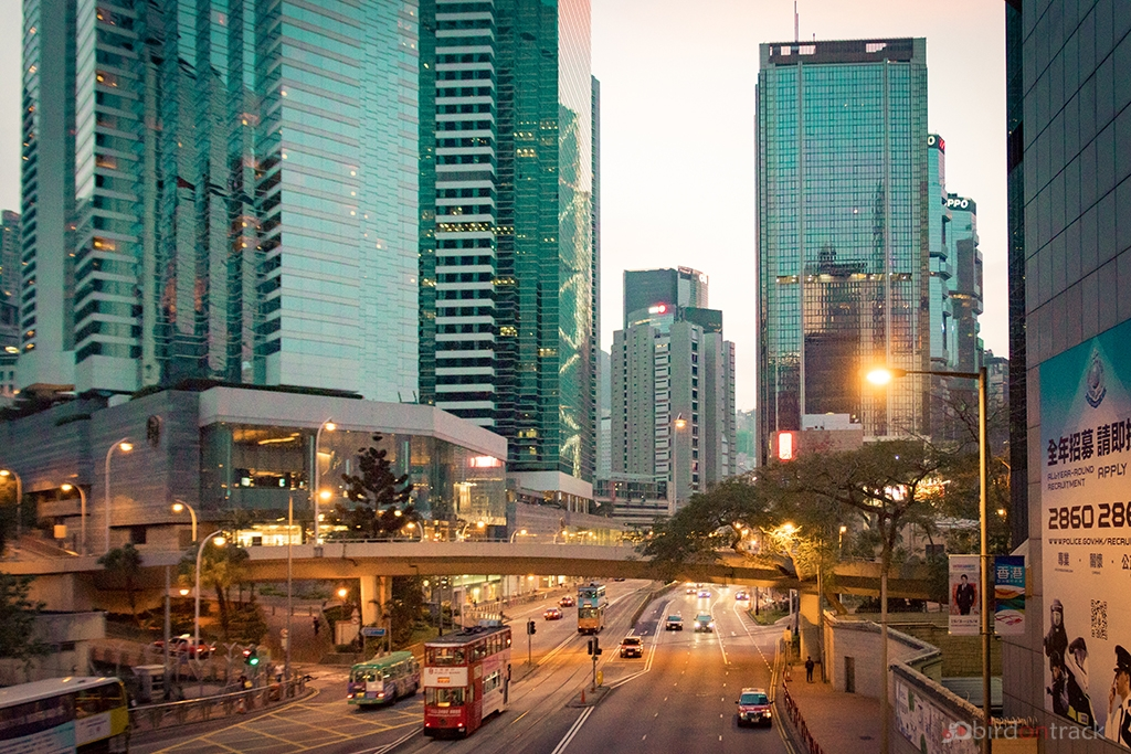 Evening in Wanchai District