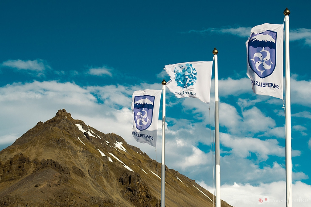 Flags of Snaefellsbaer and Stapafell