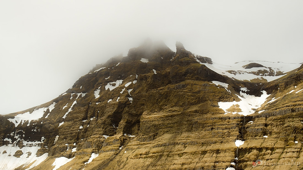 Majestic mountains in Iceland