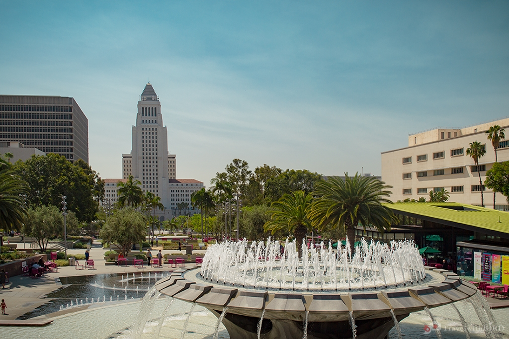 Fountain in Downtown L.A.