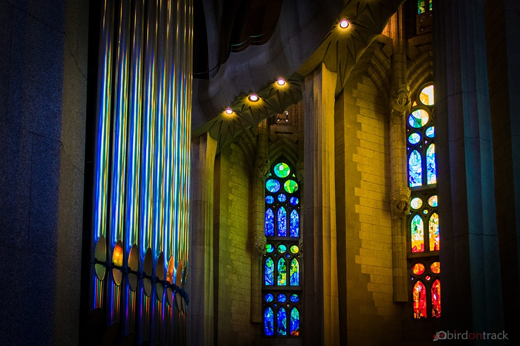 Glass and light in the Sagrada Familia Barcelona