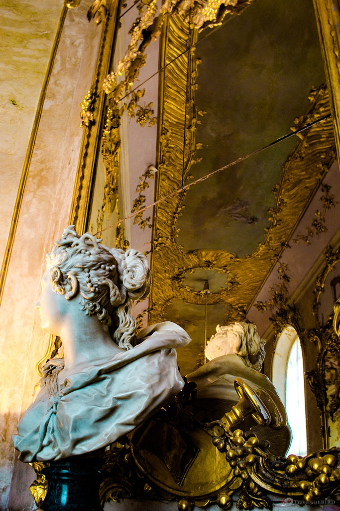 Golden decoration everywhere in Sanssouci