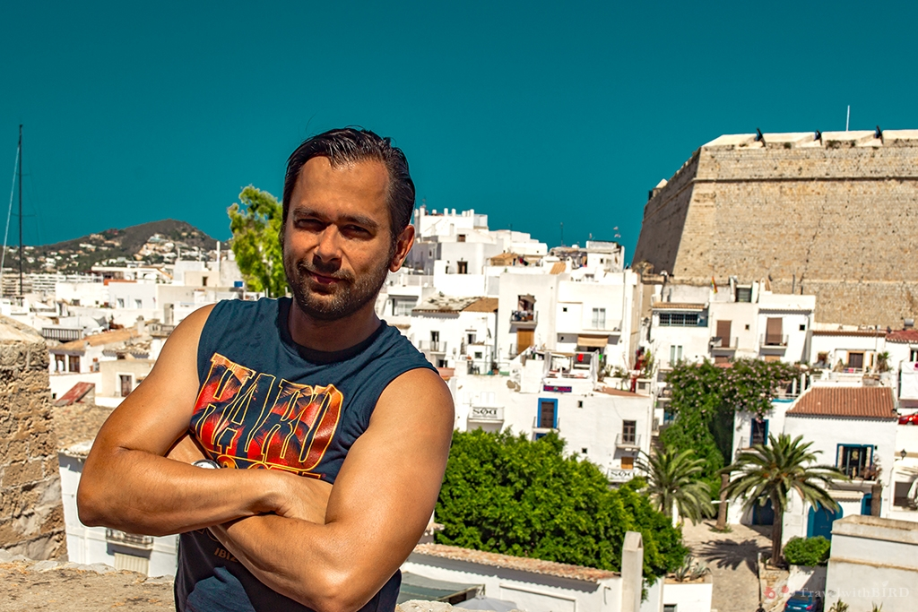 Gray in Old Town Ibiza
