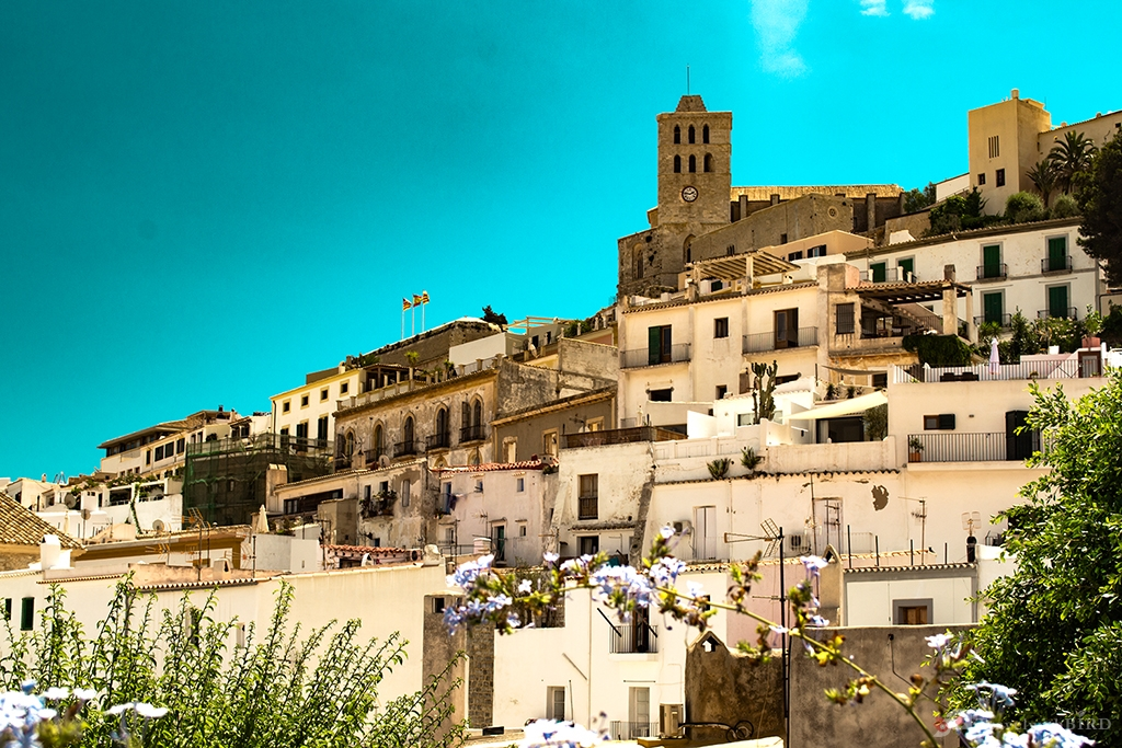 Houses of the Old Town Ibiza