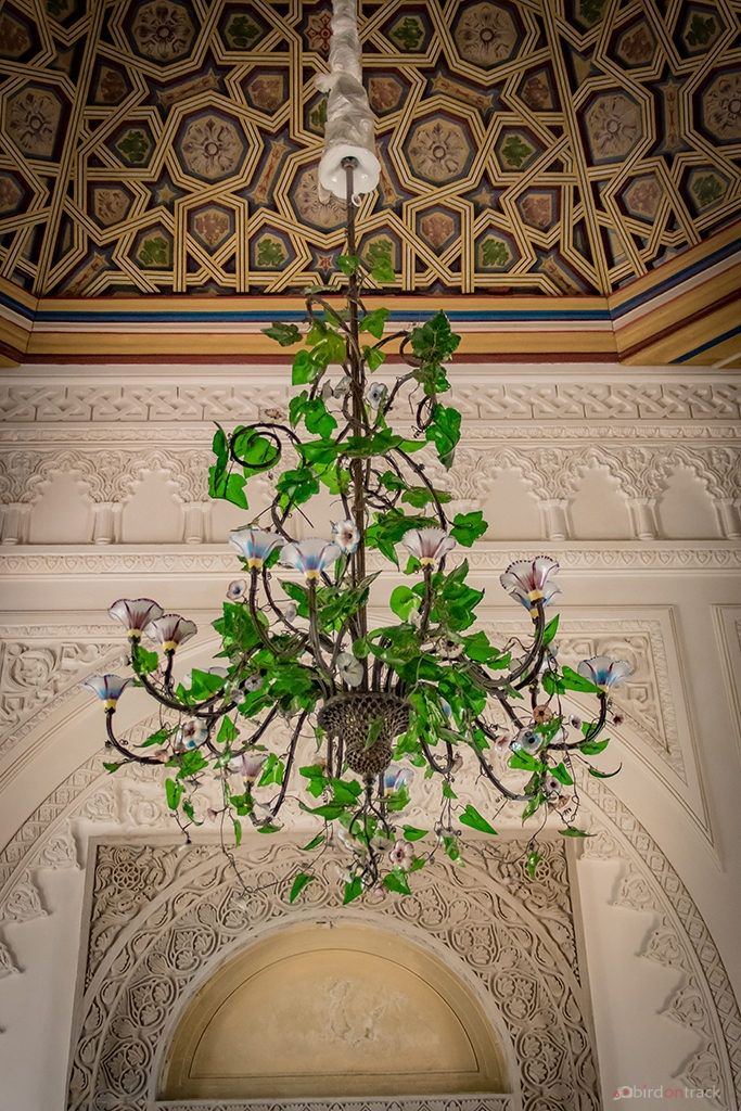 Impressive green chandelier in Sintra