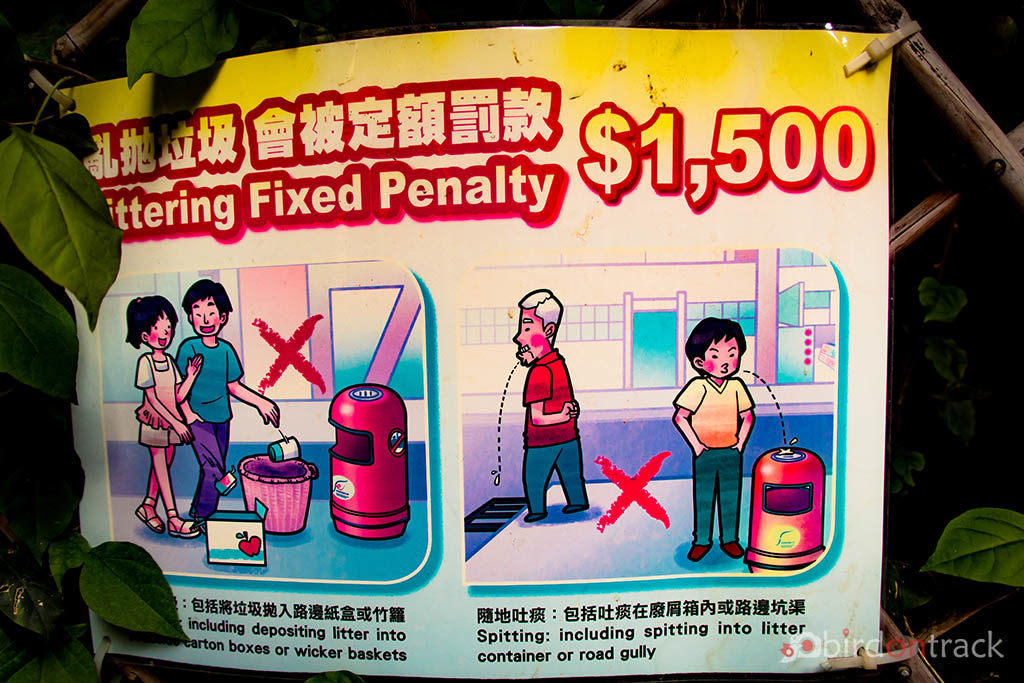 Littering fixed penalty in Hong Kong Hollywood Road