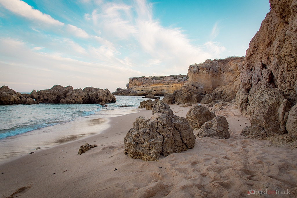 Lonely beaches of Albufeira