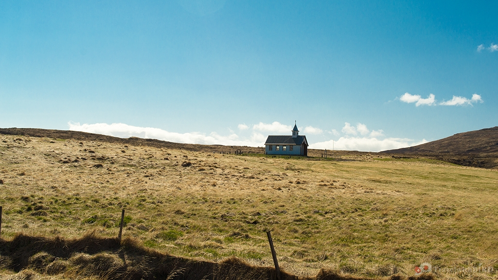Lonely building in Iceland