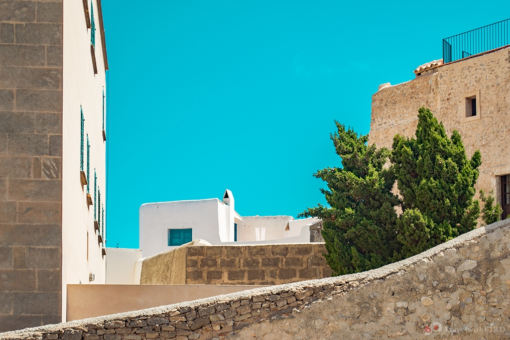 Lonesome streets in Old Town of Ibiza