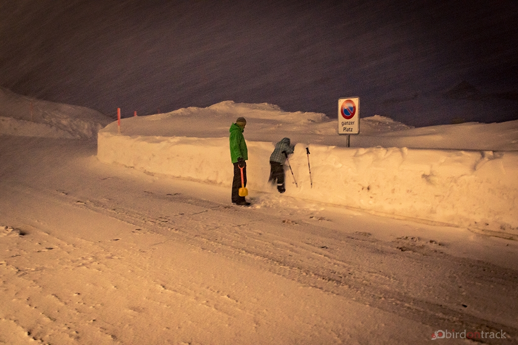 More than 1 meter height snow
