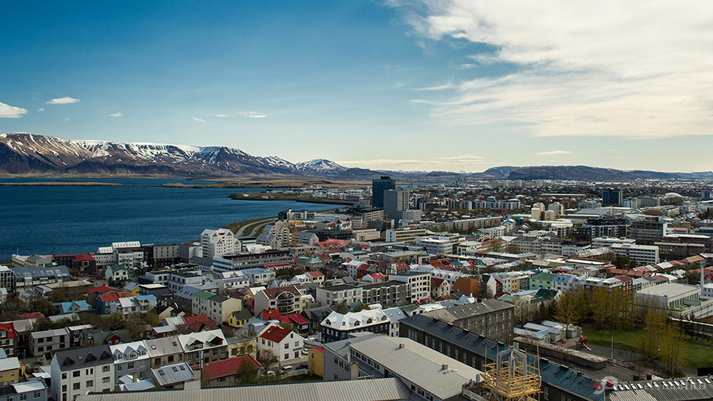 View to the North over Reykjavik