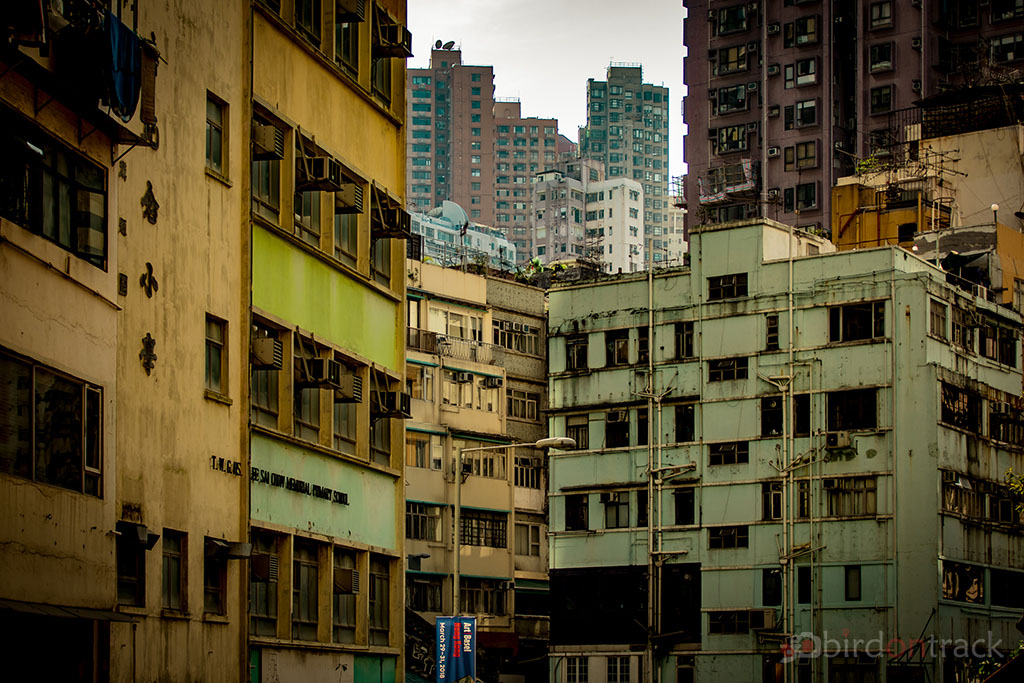 Old buildings in Hong Kong