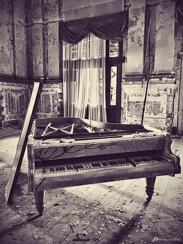 Old piano in the Ballhaus