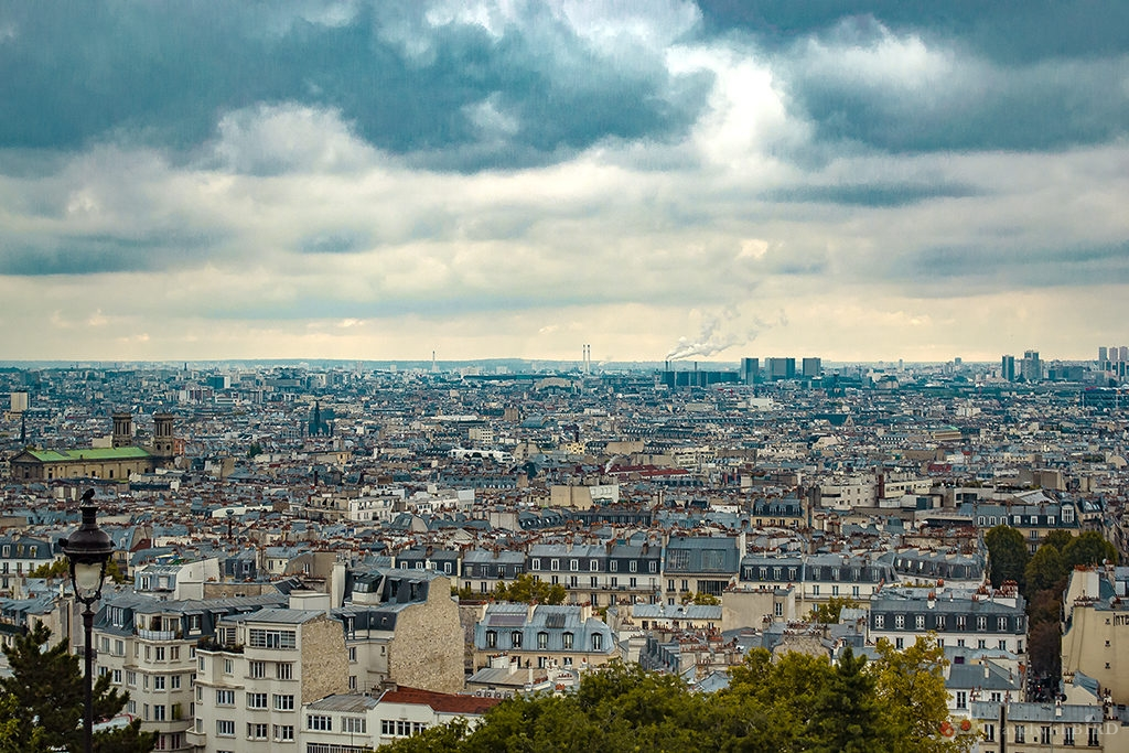 Panorama view over Paris