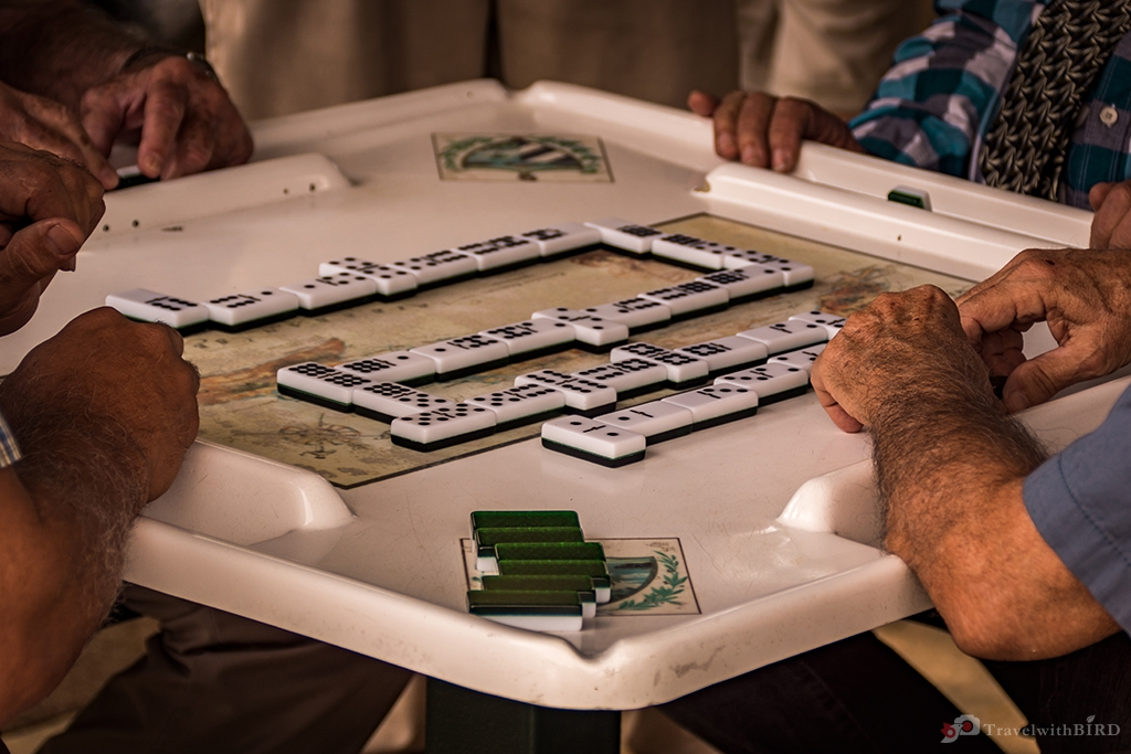 Playing Domino in Little Havanna