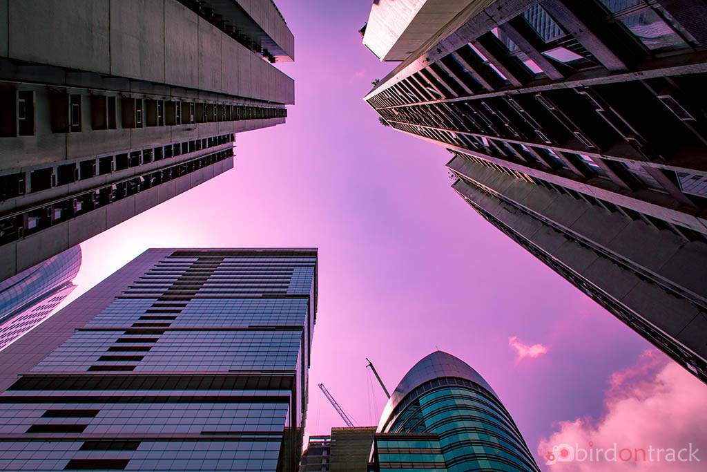 Purple sky in Quarry bay, Hong Kong