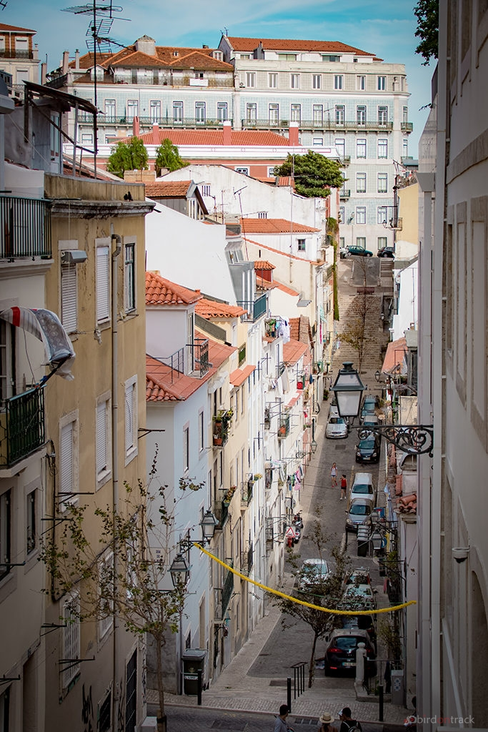 steep streets in Lisbon