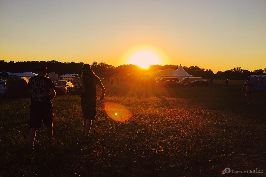 Sundown at In Flammen Festival Thorgau 2015