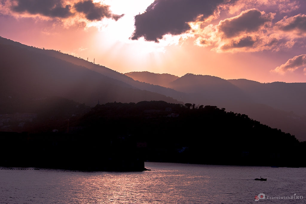 Sunset in La Spezia